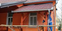 Prošireno natkrovlje na zgradi KUD-a u Slavonskom Kobašu
